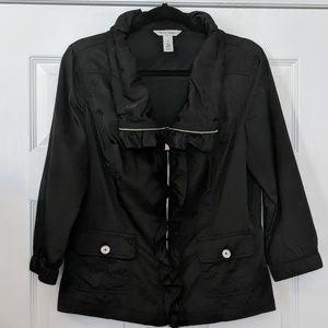 White House Black Market Ruffle Front Jacket